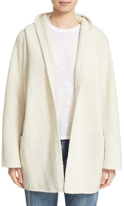 Women's Vince Hooded Open Front Wool Blend Cardigan $495 thestylecure.com