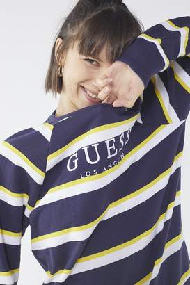 GUESS + UO Striped Crew-Neck Sweatshirt