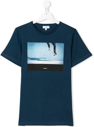 DKNY Teen skate print T-shirt