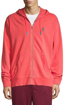 Psycho Bunny Logo Fleece Cotton Hooded Jacket