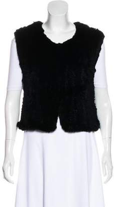 Saks Fifth Avenue Knit Fur Vest