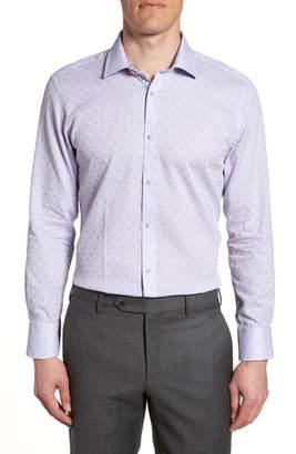Ted Baker Racking Trim Fit Dot Dress Shirt