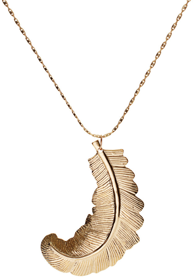 ASOS Leaf Long Pendant