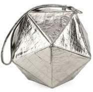 Nancy Gonzalez Leather Hexagon Wristlet