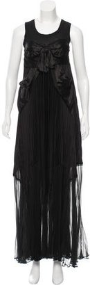Jean Paul Gaultier Pleated Bow-Accented Dress w/ Tags $805 thestylecure.com