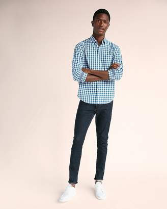 Express Slim Soft Wash Plaid Shirt