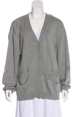 Thomas Wylde Distressed Long Sleeve Cardigan
