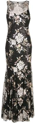 Badgley Mischka sequinned empire line dress