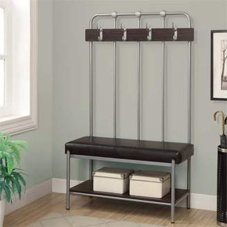 "Monarch Bench 60""H / Silver Metal Hall Entry"