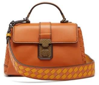 Bottega Veneta Piazza Mini Leather Bag - Womens - Orange Multi