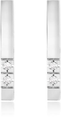 Forzieri 0.04 ct Diamond Bar Earrings