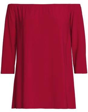 Norma Kamali Off-The-Shoulder Stretch-Jersey Top