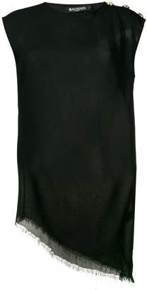 Balmain embellished vest top