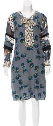 Schumacher Dorothee Printed Silk Dress w/ Tags