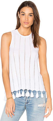 Autumn Cashmere Sleeveless Tank in White $165 thestylecure.com
