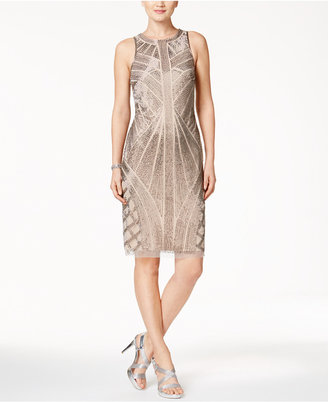 Adrianna Papell Beaded Halter Cocktail Dress $289 thestylecure.com