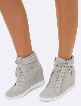 1eaf6b6bed2 ShopStyle  Forever New Kayla Wedge Sneakers - Grey - 36