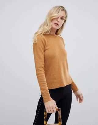 Oasis rib shoulder crew neck sweater