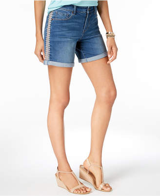 Style&Co. Style & Co Petite Embroidered Cuffed Shorts, Created for Macy's