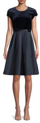 Max Mara Velvet Capsleeve Dress