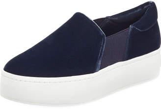 Vince Warren Velvet Platform Sneakers