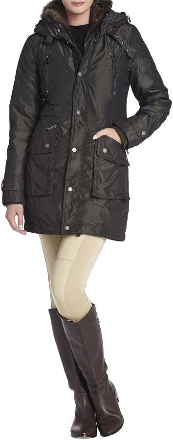 BCBGMAXAZRIA Taylor Fur-Trimmed Anorak Coat