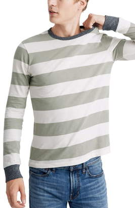 Madewell Rugby Stripe Allday Crewneck Long Sleeve T-Shirt