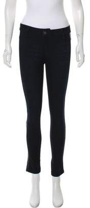 DL1961 Leather Mid-Rise Skinny Jeans