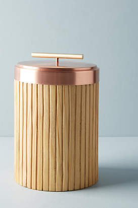 Anthropologie Metalwood Canister