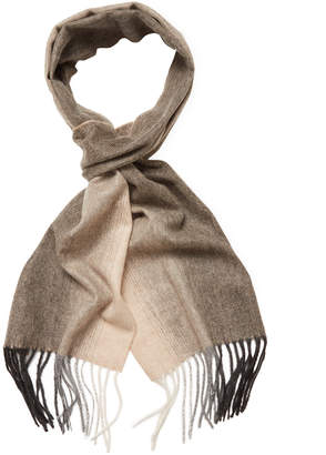 Qi Cashmere Ombre Woven Scarf, 74 X 11