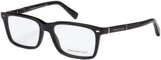 Ermenegildo Zegna EZ5037 Black Rectangle Optical Frames