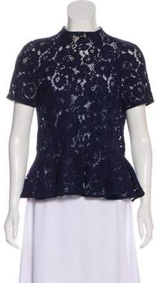 Lover Short Sleeve Lace Top
