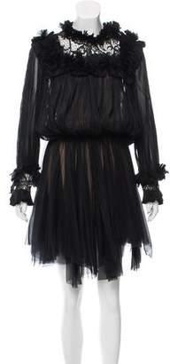Maria Lucia Hohan Silk Plissé Dress w/ Tags