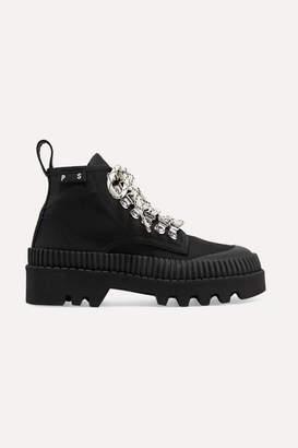 Proenza Schouler Cotton-canvas Ankle Boots - Black