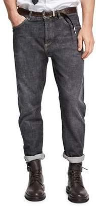 Brunello Cucinelli Selvedge Denim Leisure-Fit Jeans $795 thestylecure.com