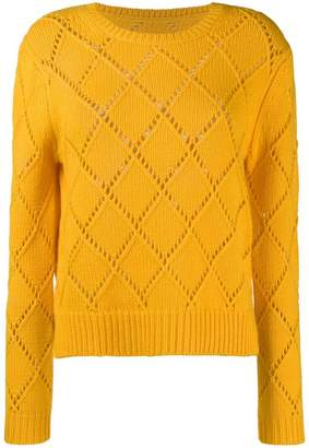 Parker Chinti & embroidered fitted sweater