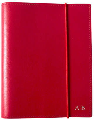 A6 Red Leather Journal Font