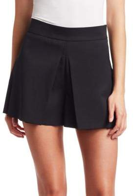 RED Valentino Vented Stretch Wool Shorts