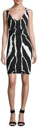Roberto Cavalli Animal Print Sheath Dress