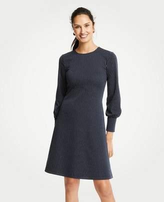Ann Taylor Pinstripe Cuffed Dress