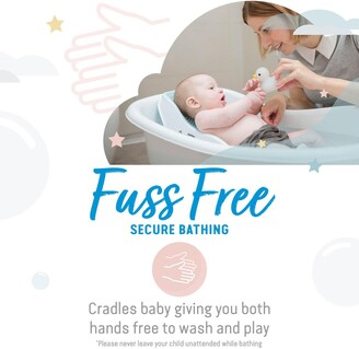 Baby Essentials Angelcare Angelcare Soft Touch Mini Bath Support- Aqua