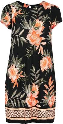 0da3e90cb82ec Next Womens Evans Curve Black Floral Border Print Swing Dress