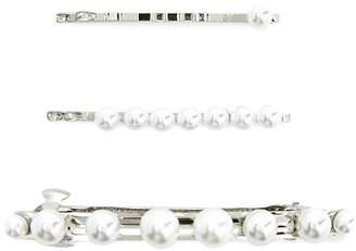 Forever 21 Faux Pearl Embellished Hair Accessories Set