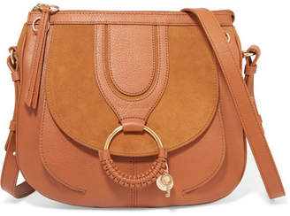 See by Chloe Hana Small Textured-leather And Suede Shoulder Bag - Tan