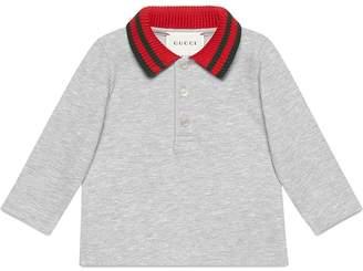 Gucci Kids polo shirt with Web