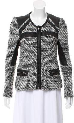 IRO Leather Trimmed Wool Jacket