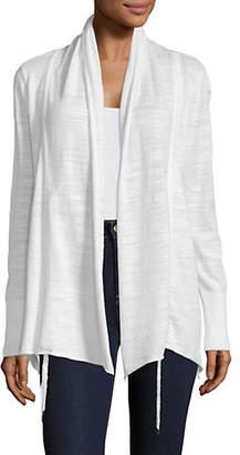 DKNY Asymmetrical Drawstring Cardigan