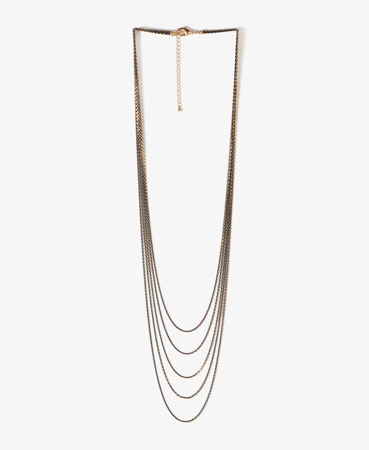 Forever 21 Multi-Strand Chain Necklace