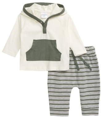 Nordstrom Hooded Henley Shirt & Sweatpants Set