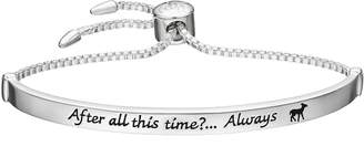 """Harry Potter Silver Plated """"After All This Time"""" Lariat Bracelet"""